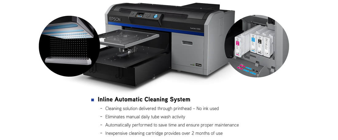 Epson F2100 Inline Automatic Cleaning